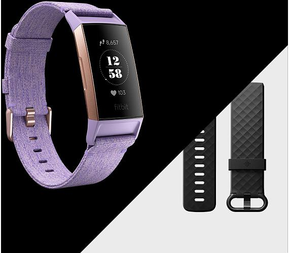 236755254 Fitbit Charge 3 Special Edition (NFC) - Lavender Woven (FB410RGLV-EU)