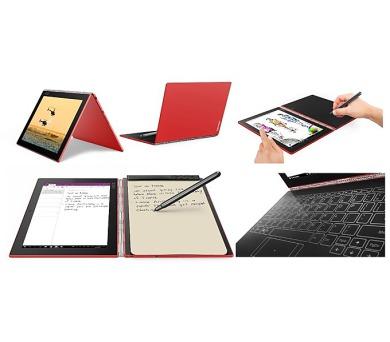 "Lenovo YOGA BOOK WINDOWS Atom x5-Z8550 2,4GHz/10,1"" FHD/IPS/multitouch/4GB/128GB/CreatePad/Halo KBRD/LTE/WIN10 PRO RED (ZA160157CZ) + DOPRAVA ZDARMA"