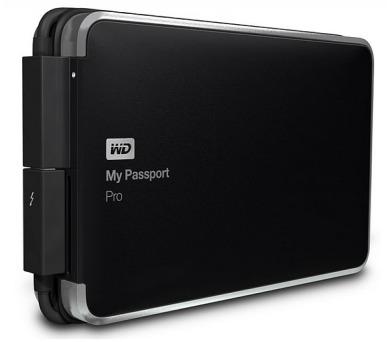 """Ext.HDD 2.5"""" WD My Passport Pro 2TB TB RAID černý (WDBRMP0020DBK-EESN) + DOPRAVA ZDARMA"""