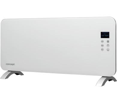 Concept KS4000 Konvektor skleněný s montáží na zeď a dálkovým ovládáním bílý + DOPRAVA ZDARMA