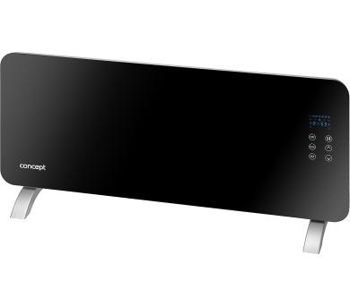 Concept KS4010 Konvektor skleněný s montáží na zeď a dálkovým ovládáním černý + DOPRAVA ZDARMA