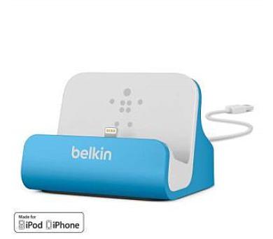 Belkin nabíjecí a synchronizační dock MIXIT UP pro iPhone 5/5s/6/6s/6 Plus - modrý (F8J045btBLU)