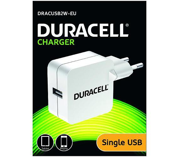 Duracell USB Nabíječka pro čtečky & telefony 2,4A bílá (DRACUSB2W-EU)