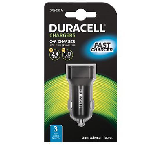 Duracell Dual USB Auto-nabíječka černá (DR5035A)