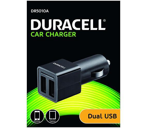 Duracell - Dual USB Auto-nabíječka pro tablet černá (DR5010A)