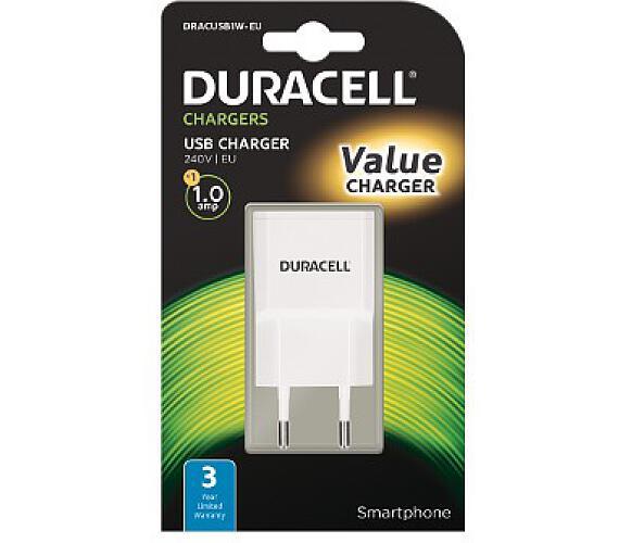 Duracell - USB Nabíječka pro čtečky & telefony 1A (DRACUSb1w-EU)