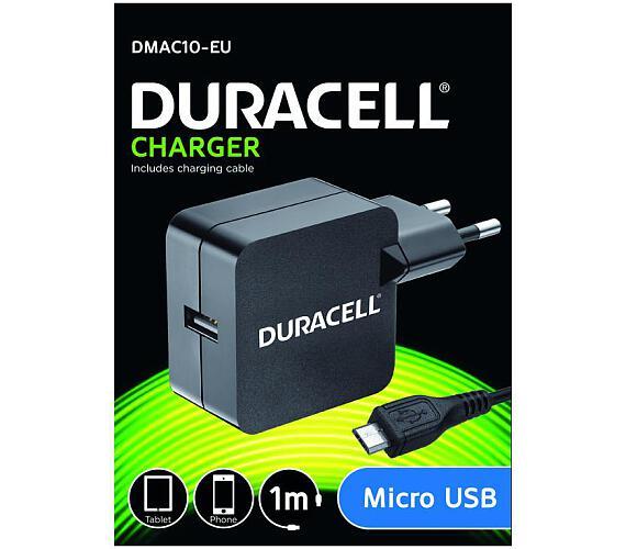 Duracell USB Nabíječka pro čtečky & telefony 2,4A včetně kabelu USB micro B černá 1m (DMAC10-EU) + DOPRAVA ZDARMA