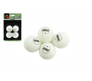 Míčky na stolní tenis/ping pong bílé 4cm 4 ks na kartě