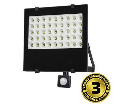 LED reflektor s čidlem pohybu 50W černý