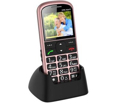 Telefon CPA Halo 11 Senior růžový s nabíjecím stojánkem