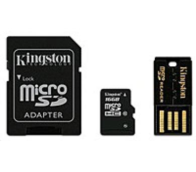 Kingston 16GB MIKRO SD CARD KINGSTON CLASS 10 G2 ( TRANSFLASH) + 2 ADAPTÉRY (MBLY10G2/16GB)