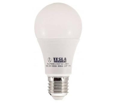 TESLA LED žárovka BULB/ E27/ 9W/ 230V/ 806lm/ 3000K/ teplá bílá/ BALENÍ 5KS (BL270930-4PACK5)