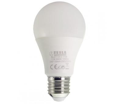 TESLA LED žárovka BULB/ E27/ 11W/ 230V/ 1055lm/ 3000K/ teplá bílá (BL271130-2)