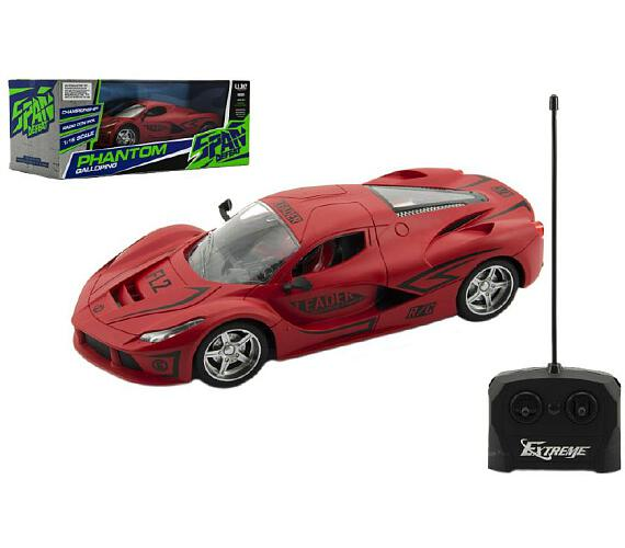 Auto RC na dálkové ovládání plast 27MHz 25cm na baterie v krabici 33x13x14cm