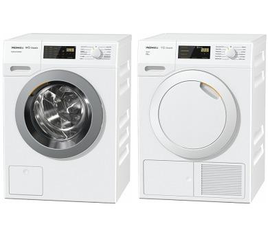 SET Pračka Miele WDD330 SpeedCare + Sušička Miele TDB230WP Active