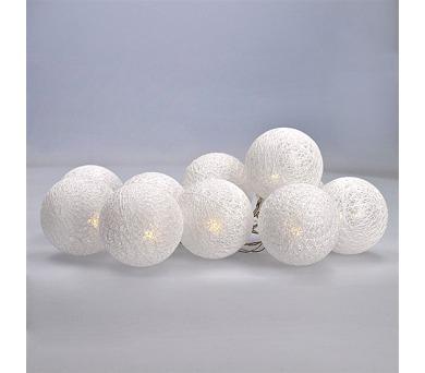 Solight LED vánoční koule bavlněné 10LED