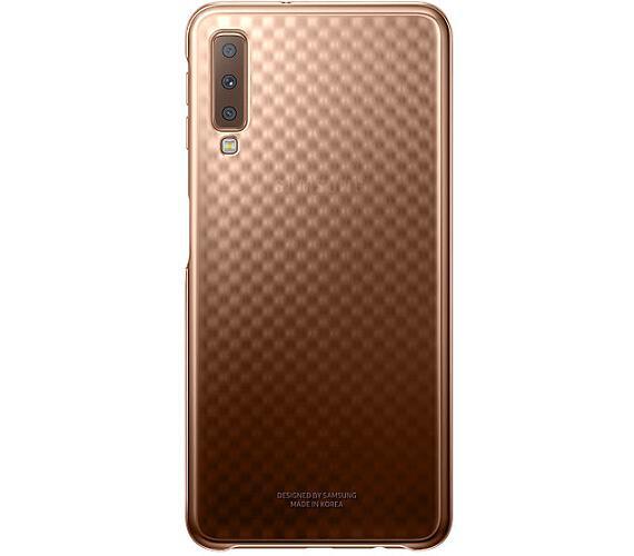 Samsung Gradation kryt pro Galaxy A7 2018 Gold (EF-AA750CFEGWW)