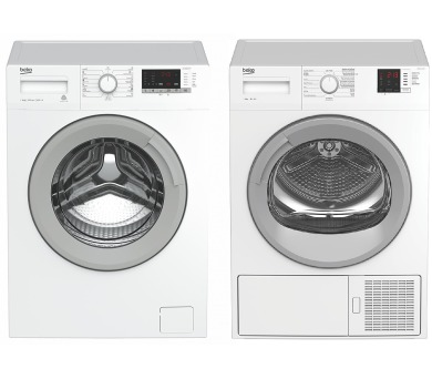 SET Pračka BEKO WTV 8612 XSW + Sušička Beko DH 8512 CSRX