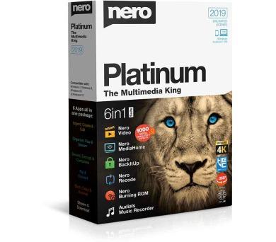 Nero Platinum 2019 - CZ - 6 aplikací v 1 (EMEA-12290000/1316) + DOPRAVA ZDARMA
