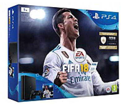 SONY PlayStation 4 1TB - černý + FIFA18 + PS Plus 14 dní (PS719913269)