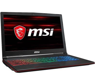 MSI Herní notebook GP63 8RE-626/ i5-8300H/ DDR4 8GB/ 1TB HDD + 256GB SSD/ 15,6 FHD/ GTX1060 6GB/ Wi