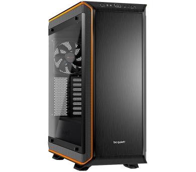 Be quiet! skříň DARK BASE PRO 900 rev.2 / BigT/ bez zdroje / 2x USB3.0 + 1x USB-C / průhledná bočnice / oranžová (BGW14) + DOPRAVA ZDARMA