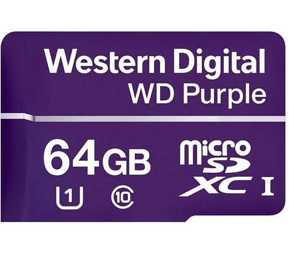 WD PURPLE microSDXC CARD WDD064G1P0A 64GB Class 10 (R80 / W50 MB/s)