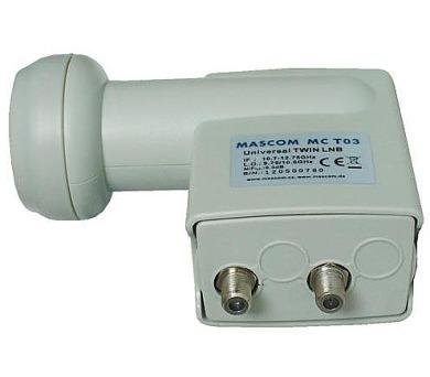 Ostatní Konvertor LNB MASCOM MC-T02HD TWIN universal