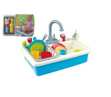 Dřez na mytí nádobí + kohoutek na vodu na baterie 20ks plast 41x28x10cm v sáčku + DOPRAVA ZDARMA