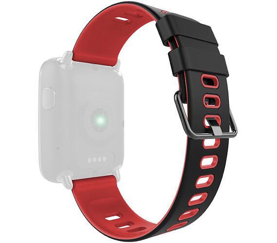 IMMAX řemínek pro chytré hodinky SW9/ černo-červený (05029)