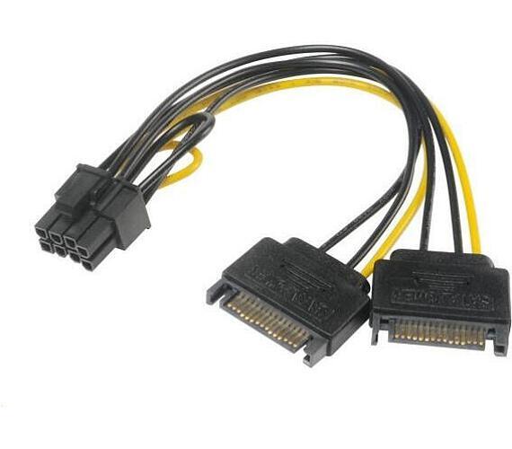 AKASA redukce 2x SATA na 8pin PCIe 2.0 / AK-CBPW19-15 /