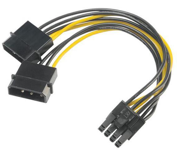 AKASA redukce 4pin Molex na 8pin PCIe / AK-CBPW20-15 / 15cm