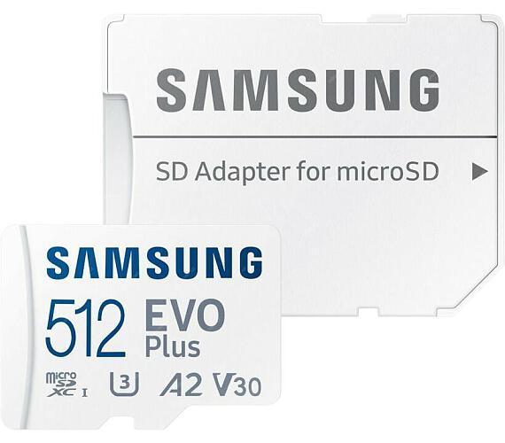 Samsung EVO Plus + SD adaptér (MB-MC512GA/EU) + DOPRAVA ZDARMA