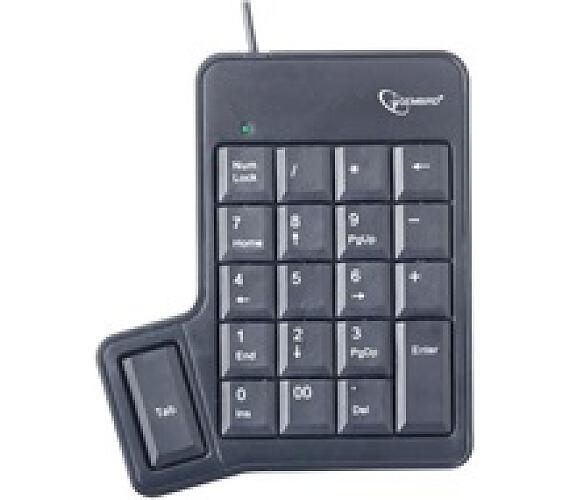 GEMBIRD numerická klávesnice KPD-UT-01 s tabulátorem