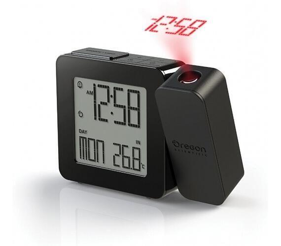 Digitální budík s projekcí času RM338PX black PROJI Oregon Scientific