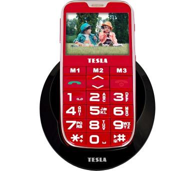 TESLA SimplePhone A50 - mobilní telefon (červená barva)