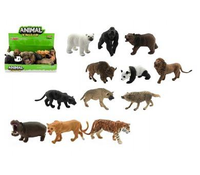 Zvířátko safari ZOO plast 10cm asst mix druhů 12ks v boxu
