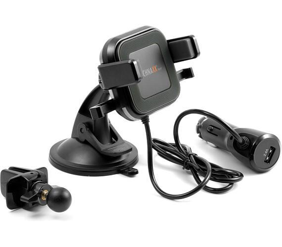Technaxx bezdrátová nabíječka do auto s držákem pro smartphone + DOPRAVA ZDARMA