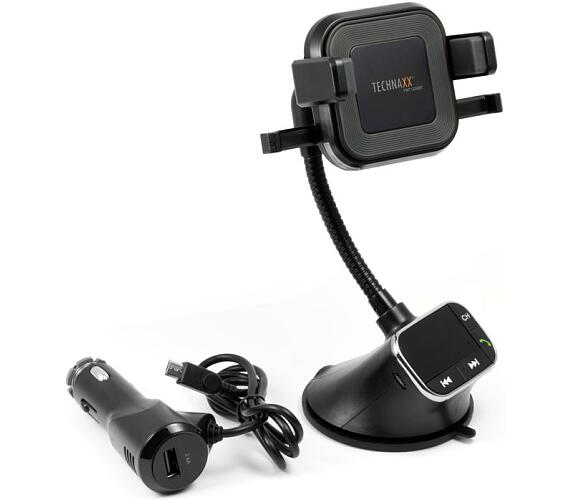 Technaxx FM transmitter s funkcí bezdrátového nabíjení 10W a přehrávání hudby (FMT1200BT) (4779) + DOPRAVA ZDARMA