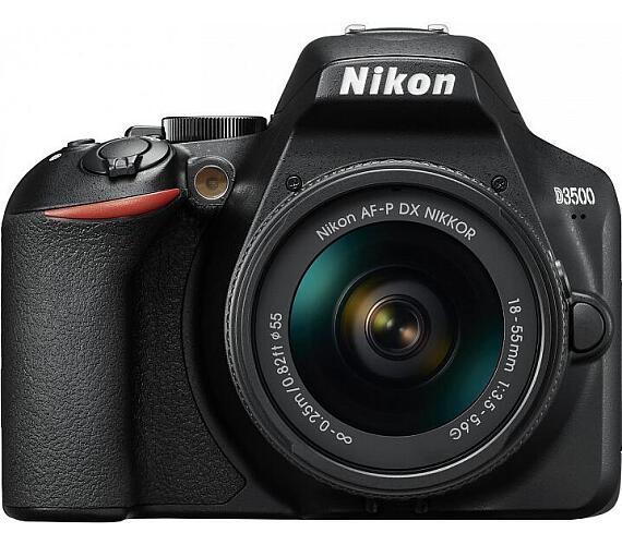 Nikon D3500 18-55 + brašňa + SDkarta + ČIŠTĚNÍ ČIPU ZDARMA! + DOPRAVA ZDARMA