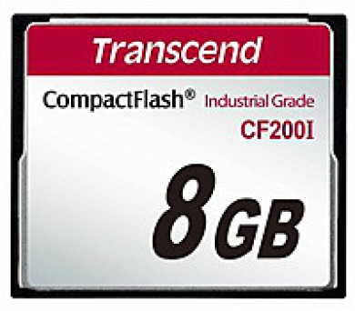 TRANSCEND Industrial Compact Flash Card CF200I 8GB