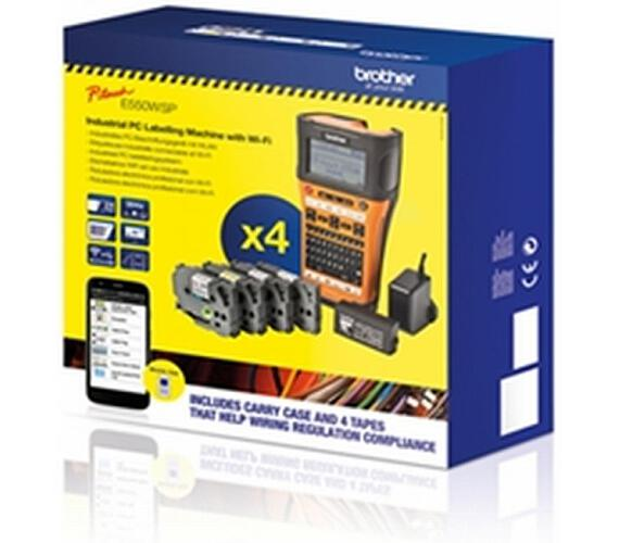Brother PT-E550WSP tisk. samolep. štítků s WiFi + DOPRAVA ZDARMA