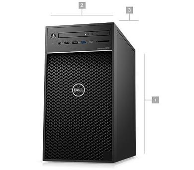 Dell Precision T3630/i7-8700/16GB/256GB SSD+2TB/5GB Quadro P2000/DVDRW/klávesnice+myš/Win 10 Pro (T3630-P3-713)