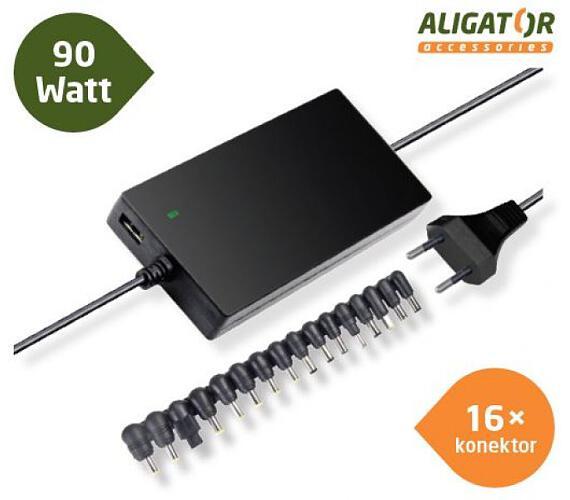 Aligator Univerzální adaptér k notebooku 90W+16 konektorů (NTA9010)