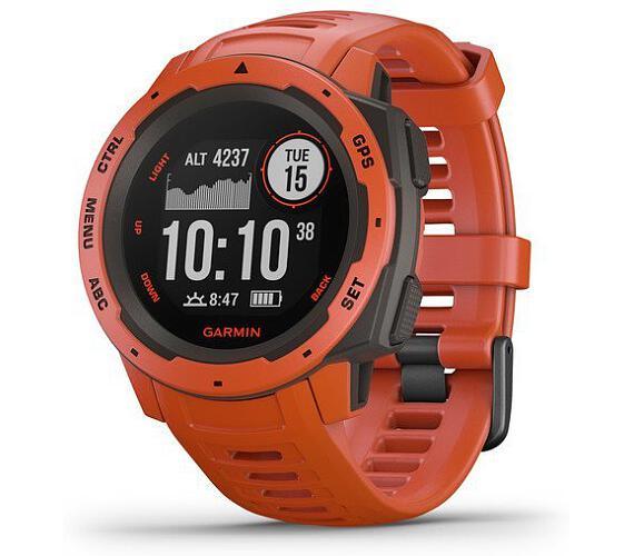 Garmin Instinct Red-Odolné outdoorové a multisportovní GPS hodinky (010-02064-02)