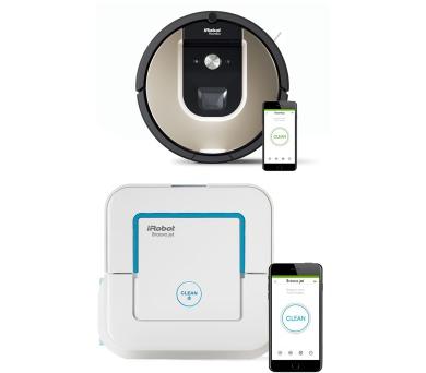 SET iRobot Roomba 966 + iRobot Braava jet 240