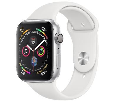 Apple Watch Series 4 GPS, 40mm Silver Aluminium Case with White Sport Band (mu642hc/a)