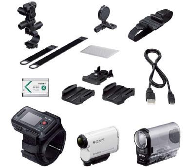 SONY HDR-AS200VB Videokamera Action Cam s technologií Wi-Fi® a GPS - s příslušenstvím na kolo