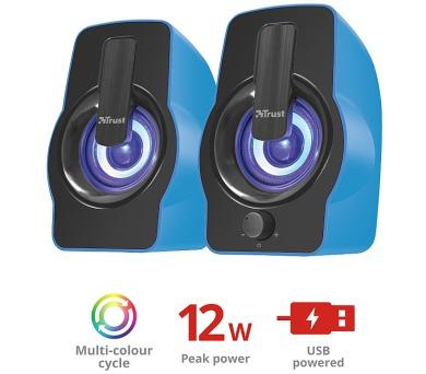 TRUST Gemi RGB 2.0 Speaker Set - blue (22978)