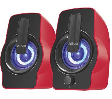 TRUST Gemi RGB 2.0 Speaker Set - red (22979)